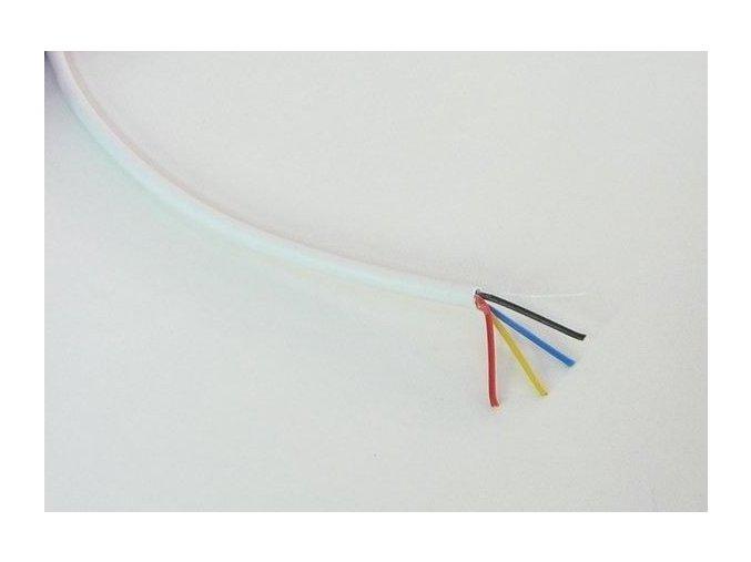 Kabel bílý čtyřžilový kulatý 4x0,19