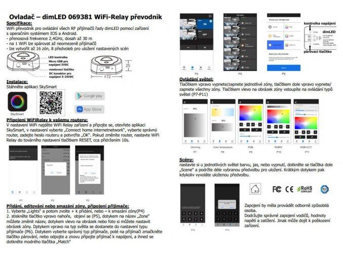 WiFi LED ovladač RGB+WW+CW