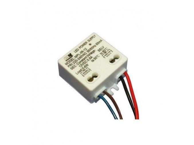 LED zdroj 12V 6W vnitřní