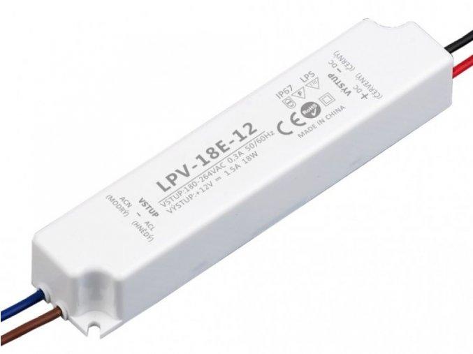 LED zdroj 12V 18W IP67 - LPV-18E-12