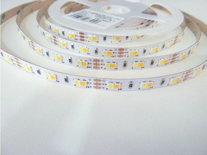 LED pásek 12V 2x9W/m CCT, IP20, 1m