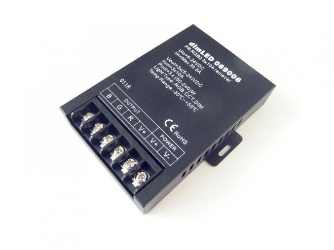 Přijímač dimLED PR RGB2, 3x10A