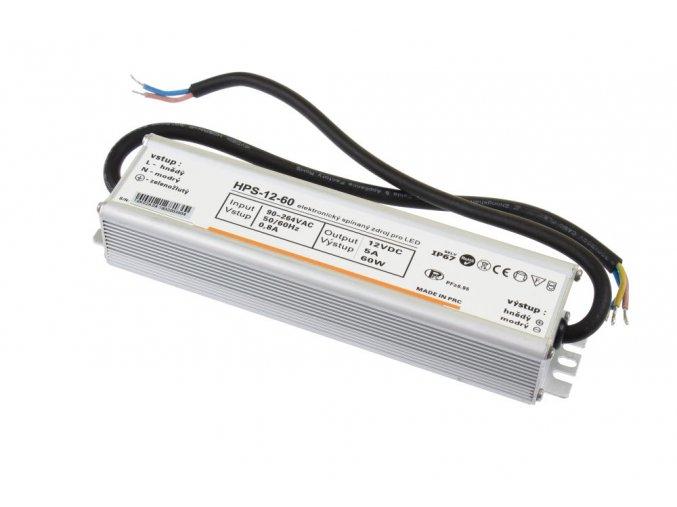 LED zdroj HPS 12V 60W IP67