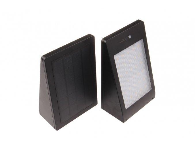 LED svítidlo MURO, solární, černé