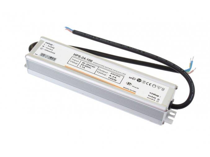 LED zdroj HPS 24V 100W IP67