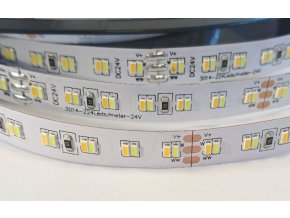 LED pásek 24V 2x12W/m CCT, IP20, 1m
