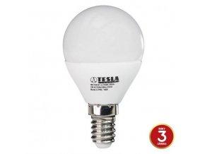 LED žárovka Tesla, E14, 3W, 230V, 250lm, 180°, teplá bílá