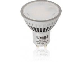 LED žárovka Tesla GU10, 7W - 100°, teplá bílá