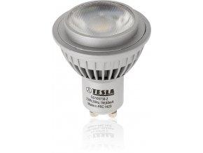 LED žárovka Tesla GU10, 7W - 36°, teplá bílá