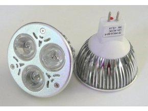 Barevná LED žárovka MR16 3W