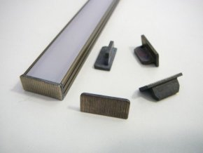Koncovka profilu N6B bronzová