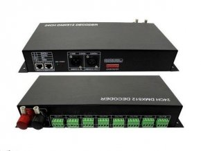 LED DMX ovladač 24 kanálů