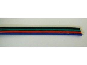 Kabel barevný čtyřžilový plochý 4x0,35