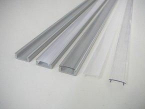 LED profil N8 - nástěnný stříbrný