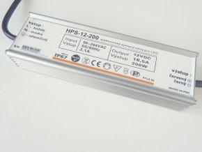 LED zdroj HPS 12V 200W IP67
