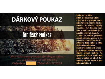 Řidičský průkaz - Vánoce