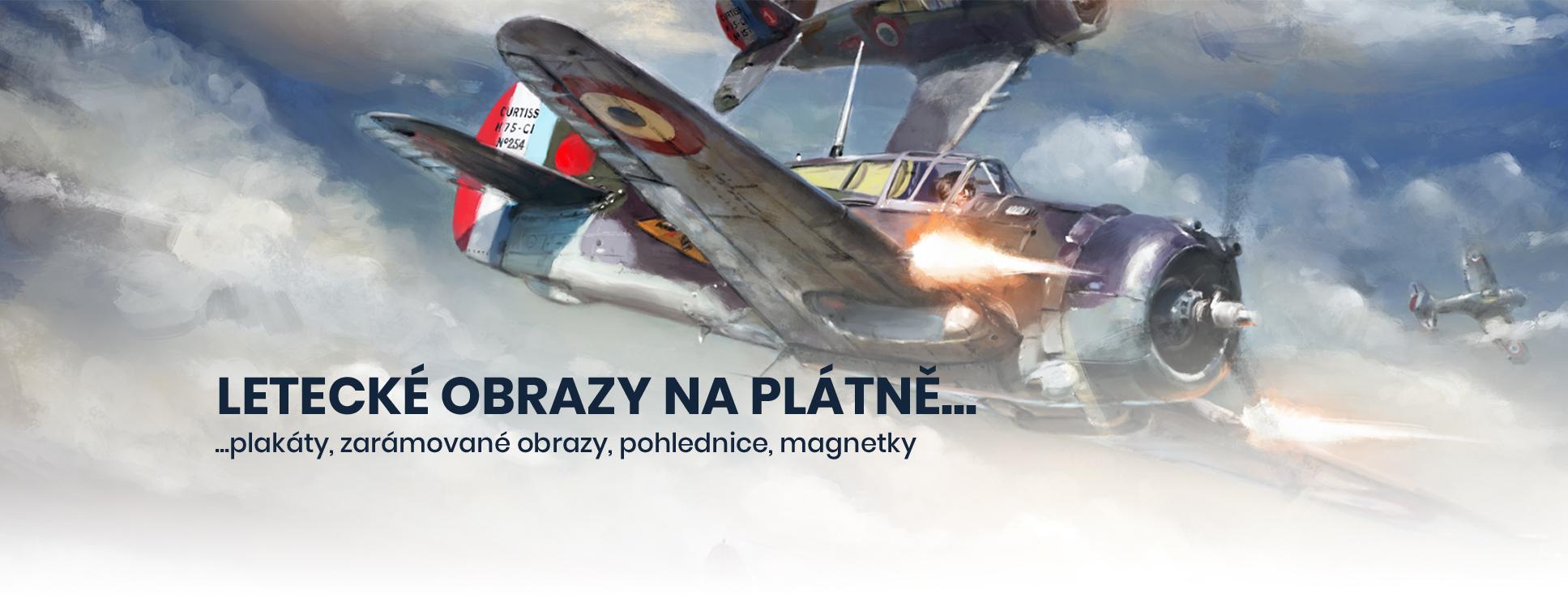 Letecké obrazy na plátně, plakáty, zarámované obrazy