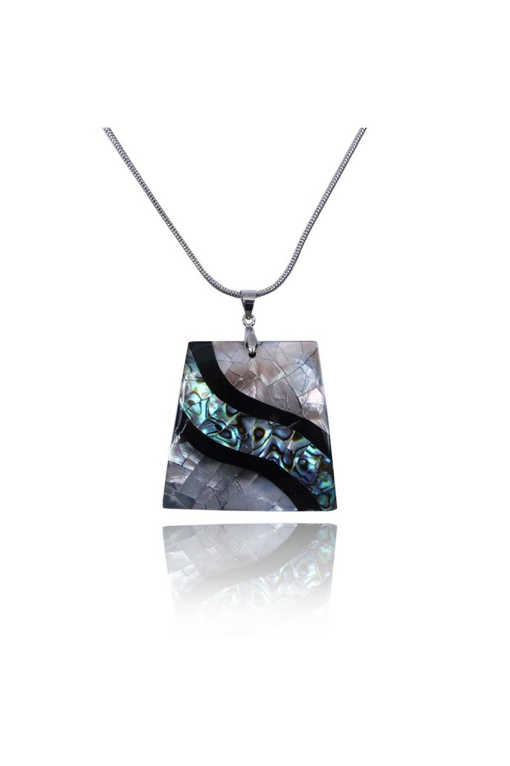 0015334 naszyjnik z muszli naturalnej abalone n03558