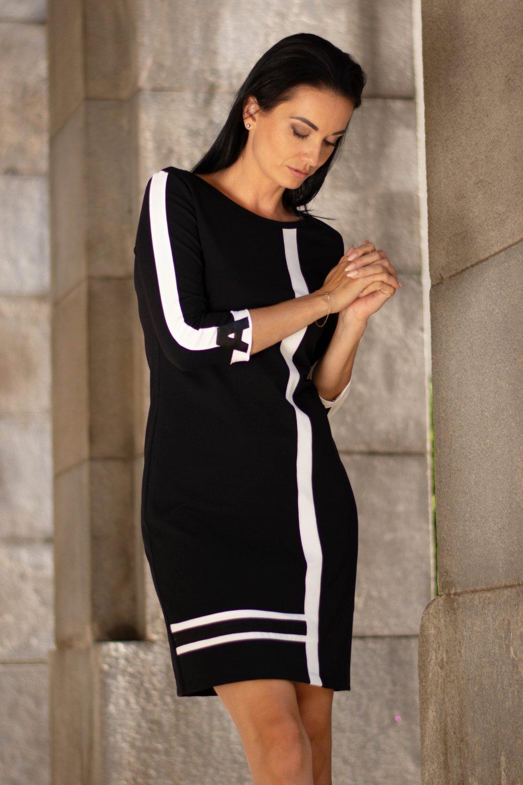 Šaty černé 31009