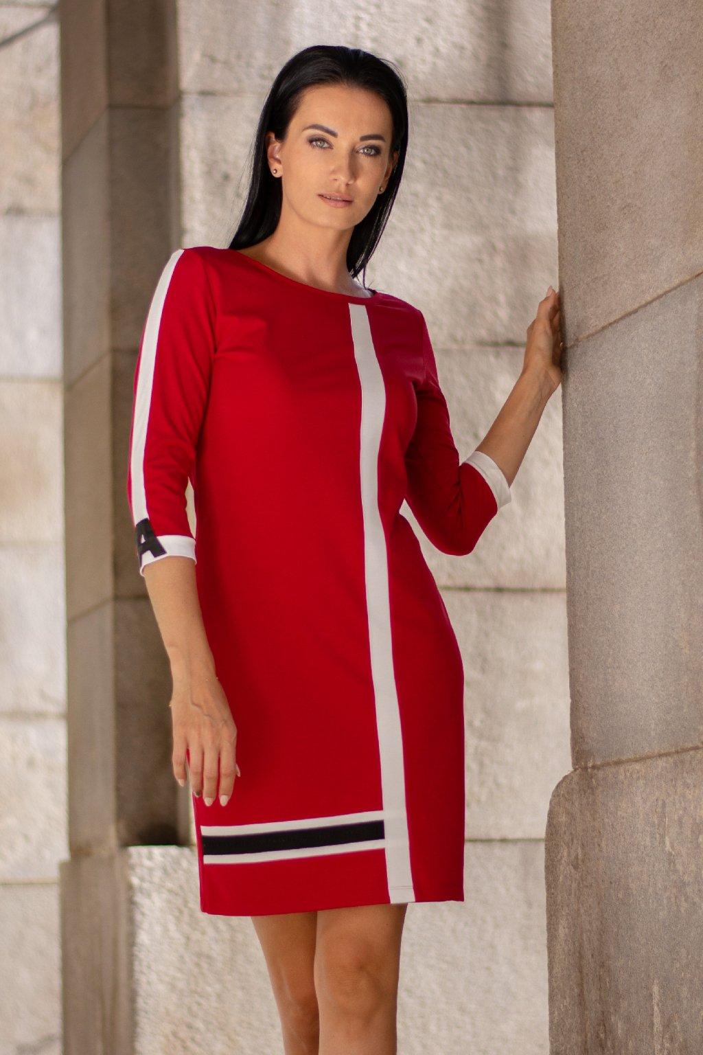 Šaty červené 31010