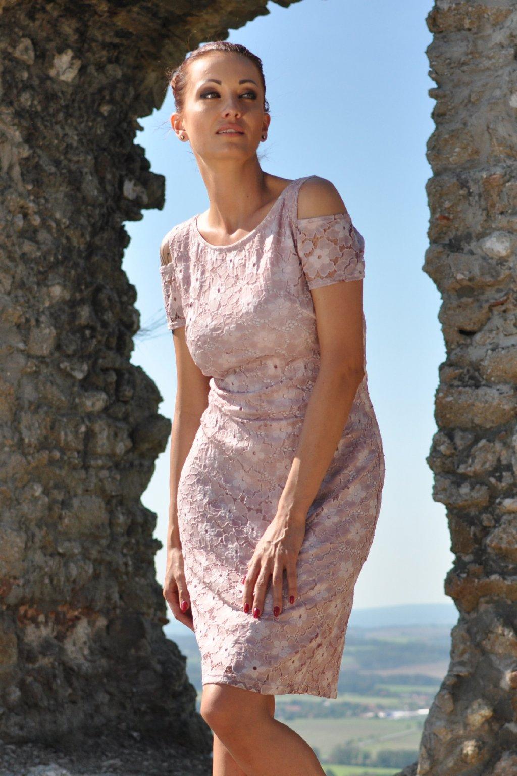 Šaty růžové 26038
