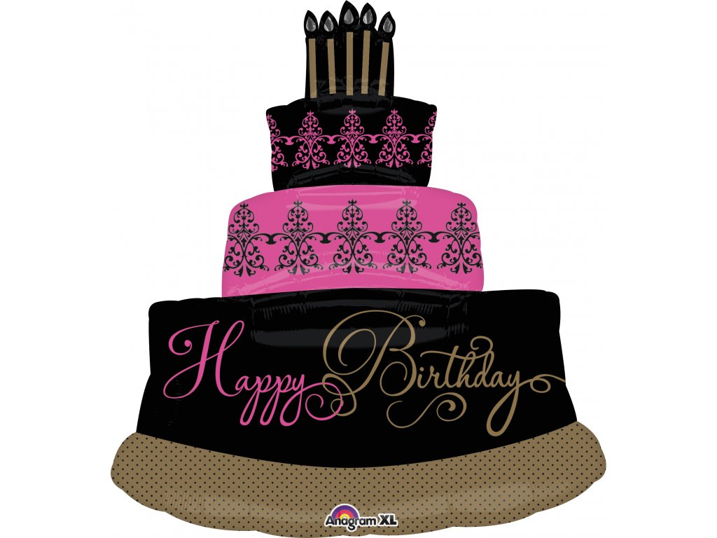 Fabulous Celebration Birthday Cake Packaged balloons