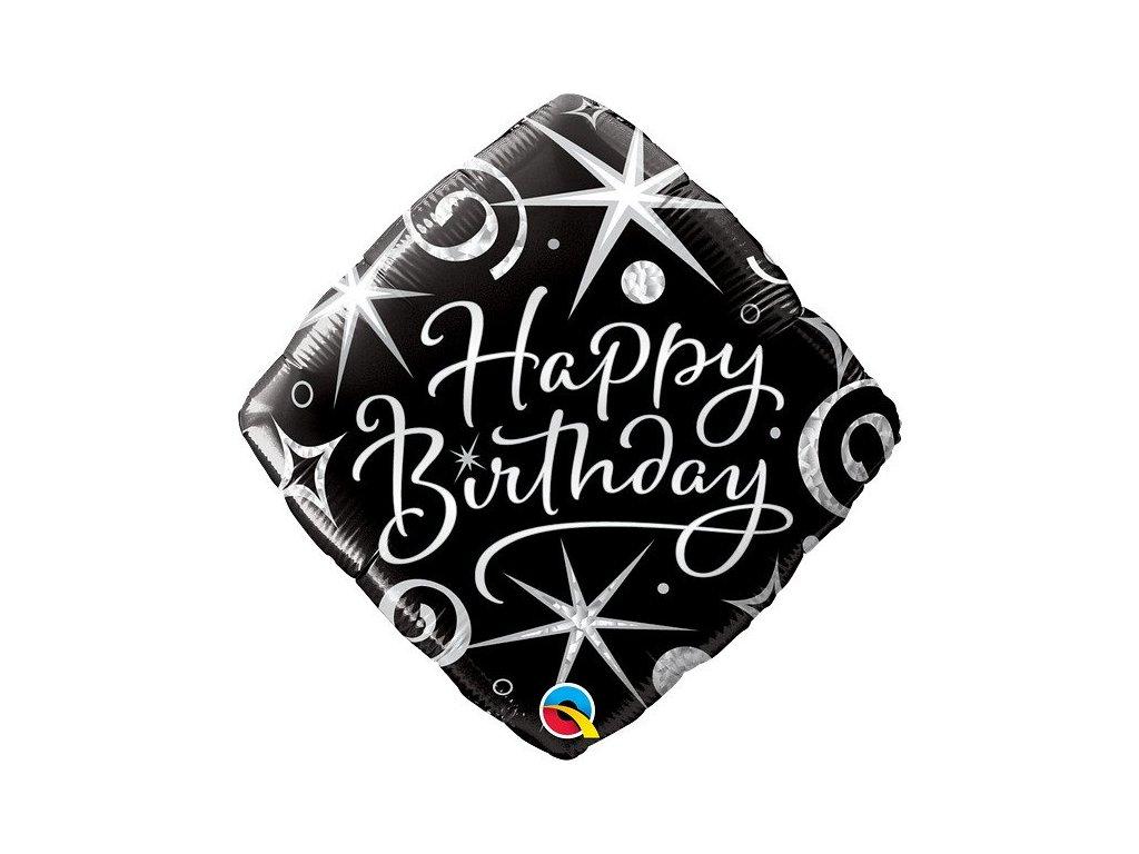 Fóliový balónek Birthday Elegant Sparkles