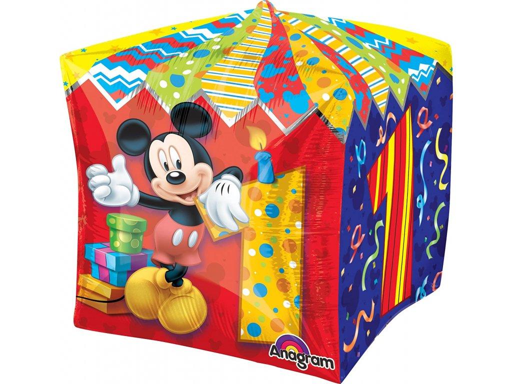 Fóliový balónek Mickey Mouse Age 1 Cubez