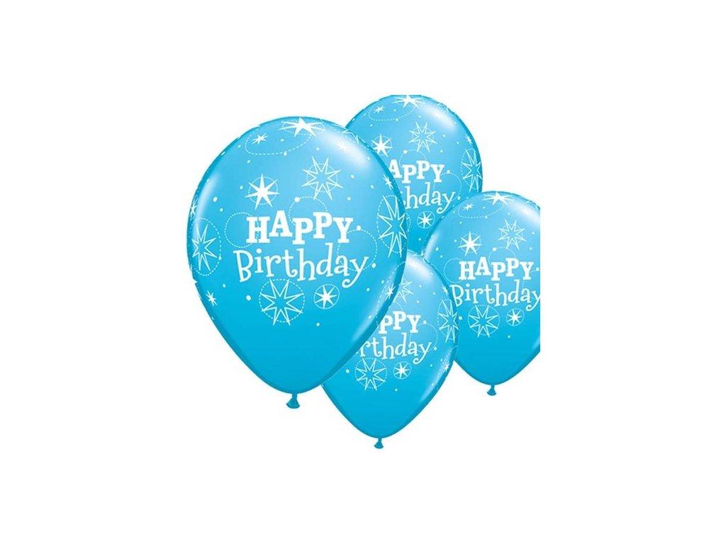 HB Latexové balónky Birthday Sparkle sv. modré , průměr 28 cm 17936