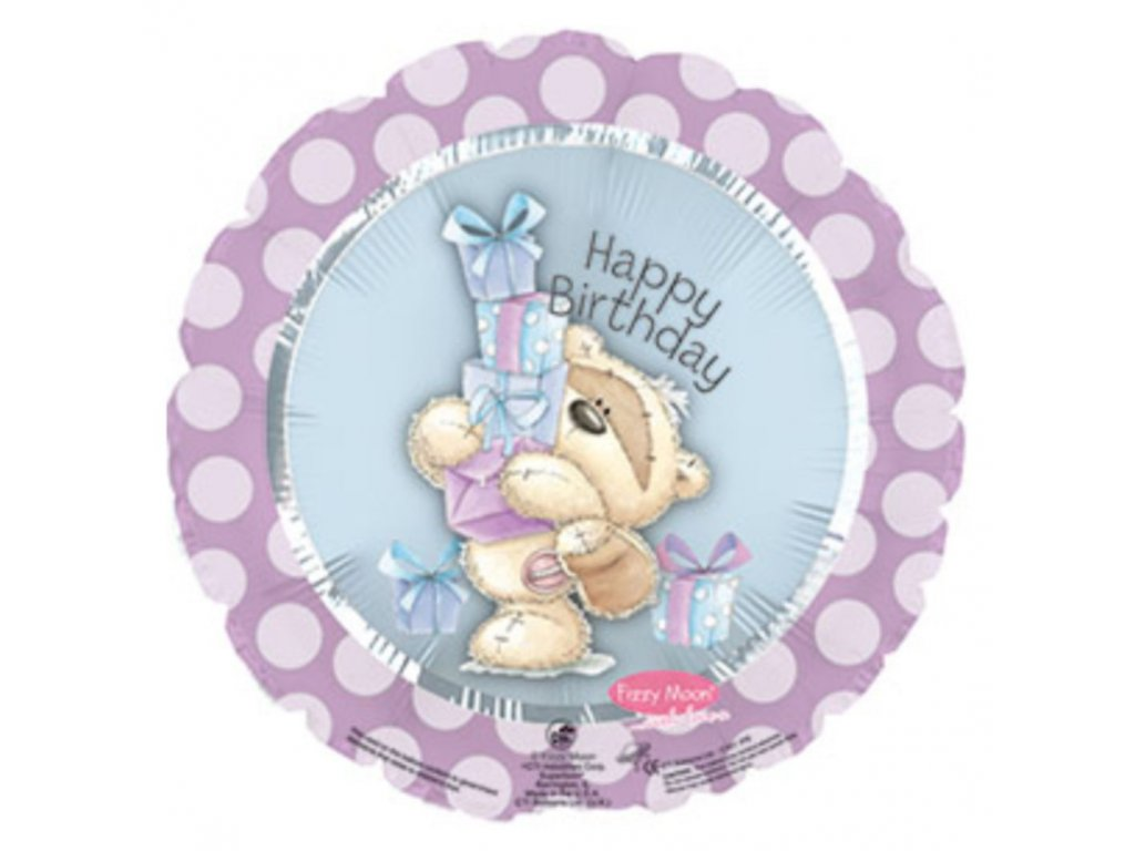 Fóliový balónek Fizzy Moon HBD Gifts