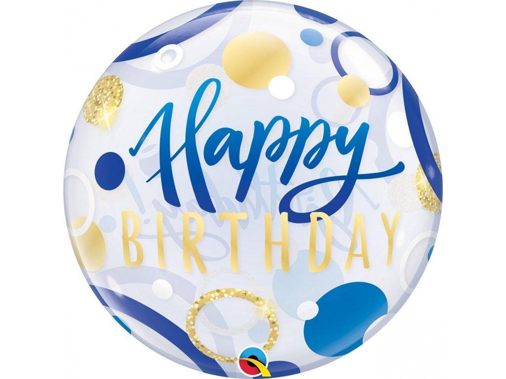 Balón Bubble Happy Birthday různé