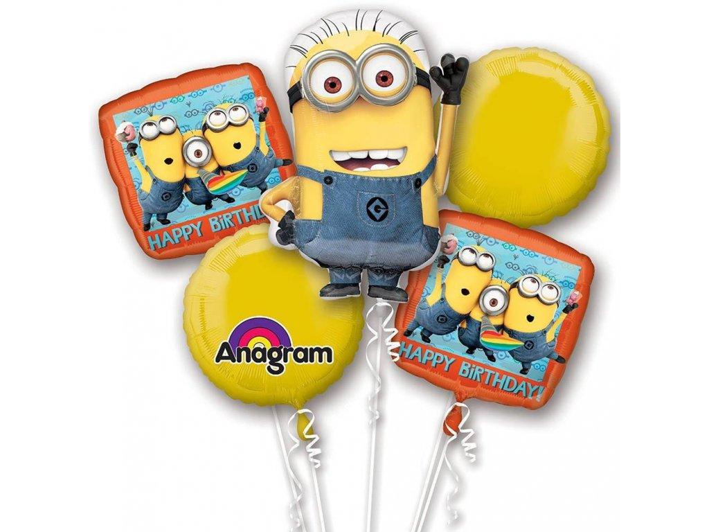 Balónový komplet Minions Birthday