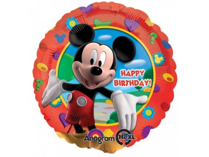 Fóliový balónek Clubhouse Happy Birthday