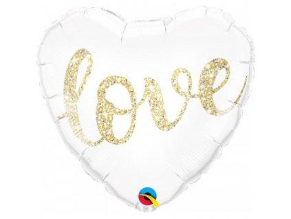 Wedding Love Glitter Gold 57320