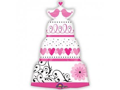 Sweet Wedding Cake 31 inch Super Shape Foil