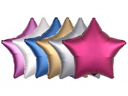 foliovy balonek satin luxe hvezda