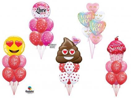 balonovy komplet zamilovani