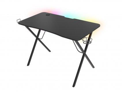 Genesis Holm 200 RGB - herní stůl s RGB podsvícením