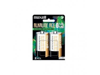 MAXELL Alkalická baterie D (LR20), blistr 2 ks