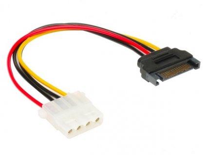 AKASA kabel redukce power SATA na Molex/ 4pin PSU Molex/ 15cm