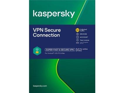 Kaspersky Secure Connection, 5 zařízení, 1 rok, obnova, elektronicky (ESD)