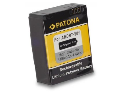 Patona PT1150 - GoPro Hero 3  AHDBT-301 1180mAh Li-Pol