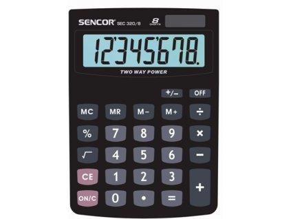 Sencor Stolní kalkulačka s velkým displejem SEC 320/8, Výpočet procent,solár/bat