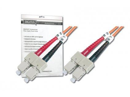 DIGITUS Fiber Optic Patch Cord, SC to SCMultimode 50/125 µ, Duplex Length 1m