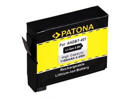 Patona PT1235 - GoPro Hero 4 AHDBT-401 1160mAh Li-Ion