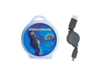 KABEL USB A-B mini, navíjecí kabel 1m