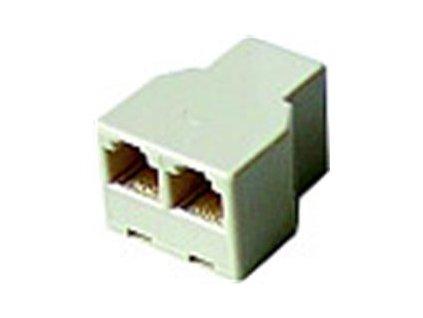 NE Telefonní rozdvojka RJ11 6/4F - 2x6/4F