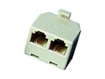 NE Telefonní rozdvojka RJ11 6/4M - 2x6/4F