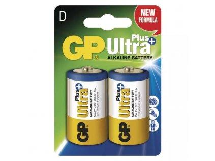 GP Ultra Plus Alkaline R20 (D, velké mono) blister, 2 kusy