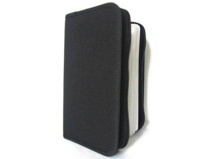 Pouzdro na CD/DVD- 128ks, zapínací černá peněženka
